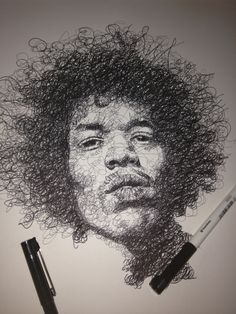 Drawing Skills, Drawing Techniques, Graphite Art, Scribble Art, Sharpie Art, Sharpies, Guache, Black And White Drawing, Fantastic Art