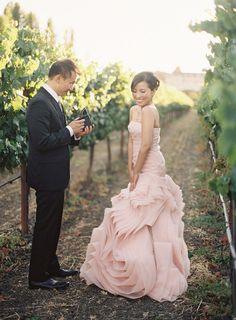 Blush Vera Wang Engagement Shoot