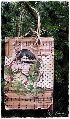 Shabby Grunged Paper Gift Bag...