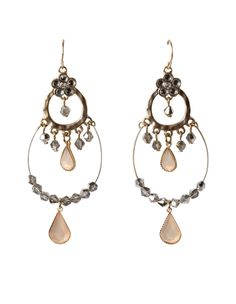 cleo - Circle Chandelier Drop Earring