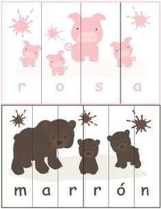 Print and laminate this fun color puzzle for your classroom. This puzzle is designed for children learning colors words in Spanish. Spanish Worksheets, Shapes Worksheets, Alphabet Worksheets, Worksheets For Kids, Learning Colors, Kids Learning, French Colors, Color Puzzle, Teaching French