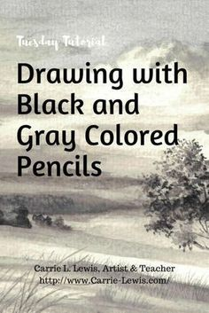 Color Pencil Drawing Tutorial Drawing with Black and Gray Colored Pencils - Drawing with black and gray colored pencils. See how to avoid or fix a few common mistakes, and get tips for using water soluble and traditional colored pencils together. Pencil Drawing Tutorials, Pencil Drawings, Art Drawings, Pencil Sketching, Art Tutorials, Sketching Tips, Realistic Drawings, Rose Drawings, Simple Drawings