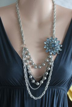 what to do with an extra brooch diy jewellery statement necklace