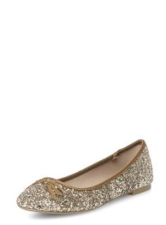 Bronze glitter round toe pumps €12