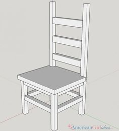 doll furniture How to make American Girl Kitchen Chair Girls Furniture, Diy Furniture Plans, Barbie Furniture, House Furniture, Pallet Furniture, American Girl Kitchen, American Girl Crafts, American Girls, Muebles American Girl