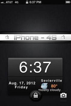 This is a lock screen wallpaper & Calendar / Weather widget that I made for iPhone.