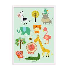 animal partyunframed illustration von tamarulla auf Etsy, $18.00