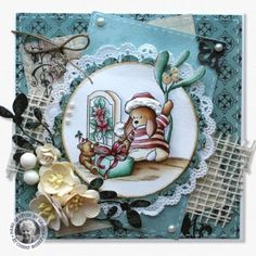Pachela Studios Digi Stamp - Toby Tumble - Christmas Wishes < Craft Shop | Cuddly Buddly Crafts