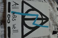 HARRY POTTER Harry Potter 8x10 canvas painting by VisionsByAshley on Etsy, $12.99