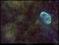 uraniaproject:   NGC6888 & bubble in HST palette