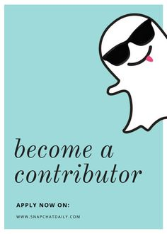 Want to share your Snapchat knowledge and expertise on Snapchat Daily? Become a Contributor! Spaces are limited so apply now!