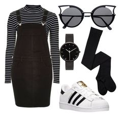 """""""Simple 'N' Stylish"""" by kimbo20111 ❤ liked on Polyvore featuring Topshop, adidas and I Love Ugly"""