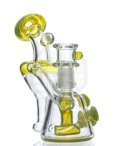 geos glass slyme heady mini recycler dab rig #stoner #bong #pipe