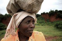 Woman with Grain Bag