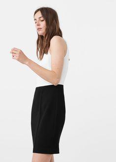 Kétszínű női ruha | MANGO