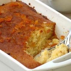 Like Malva pudding, this pudding is one of our best kept traditional South African secrets. Orange Recipes, Lemon Recipes, Fruit Recipes, Desert Recipes, Sweet Recipes, Baking Recipes, Recipies, Pudding Desserts, Pudding Recipes