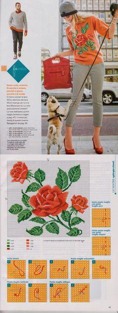 提花针织中袖 - 蕾妮的日志 - 网易博客 | вязание(жаккард,вышивка) | Постила