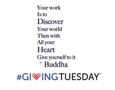 Discover then give #GivingTuesday