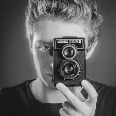 Slightly angry #SelfPortrait with my #Lubitel 166B #monochromephotography -- Pinned from my instagram @mikesouthmakes