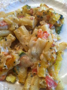 Baked ziti & summer veggies...might just have to switch out a meal for this this week. YUM!