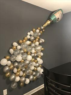 Bridal shower decor, bachelorette party decor, pop clink fizz, champagne
