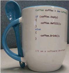 Café y programación, conjunción básica, de la era digital. Un condicional básico (Humor informático)