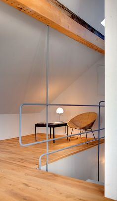 9231fde9c12b43 Cosy corner for reading! We did the handrail from old Marcel Breuer  sketches!