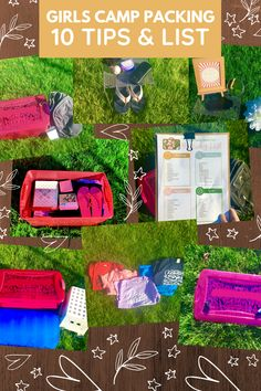 These packing tips will help you or your young woman prepare for lds girls camp. They include ideas for decor, outfits and more, from a young woman! A packing list is included. Camping Packing, Camping Outfits, Packing Tips, Secret Sister Gifts, Girls Camp, Lds, Bag Making, Keep It Cleaner, Crates