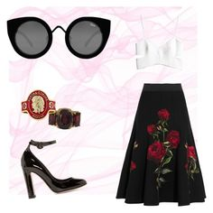 """Olé"" by paulinardzm on Polyvore featuring moda, Dolce&Gabbana, H&M, Quay, Christina Addison y Cartier"
