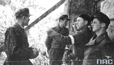 """The first days of Uprising - soldiers """"Radoslaw"""" on the Wola (part of Warsaw)."""