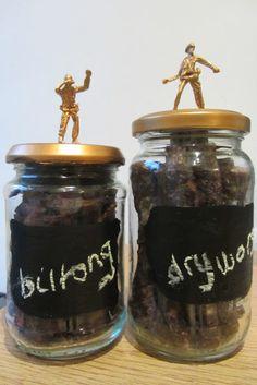 Manly gift - biltong jars