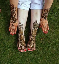 Henna tattoos-love the placement and the colors