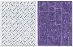 #afflink Amazon.com Sizzix Texture Fades Embossing Folders 2PK - Diamond Plate & Riveted Metal Set by Tim Holtz