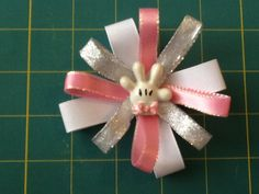 Minnie Mouse Bow. Alligator clip pink/black by MeridaMerchandise, $5.00
