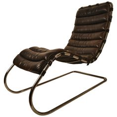 Mies van der Rohe for Knoll Chaise Lounge | From a unique collection of antique and modern lounge chairs at https://www.1stdibs.com/furniture/seating/lounge-chairs/