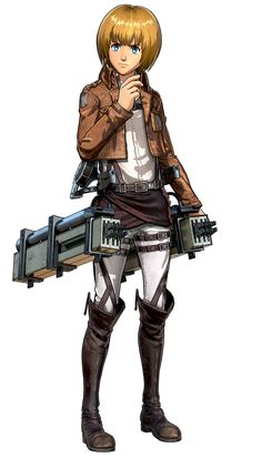 View an image titled 'Armin Arlert Art' in our Attack on Titan: Wings of Freedom art gallery featuring official character designs, concept art, and promo pictures. Mikasa, Aot Armin, Attack On Titan Game, Titans Gear, Manga Anime, Anime Art, Aot Characters, Freedom Art, Humanoid Creatures