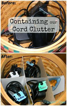 Pinspired Home: Containing the Cord Clutter