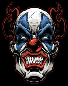 Vector clown-vector illustration-tribal gear-sweyda-scary clown.jpg