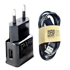 EU 5V 2A USB Wall travel Charger + Micro USB Data Sync Charging Cable for Samsung Galaxy S2 S3 S4 HTC Sony Charger Adapter