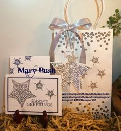 Stampin' in the Sand: Bright & Beautiful Silver Gifts Stampin up Bright and Beautiful star stamp set