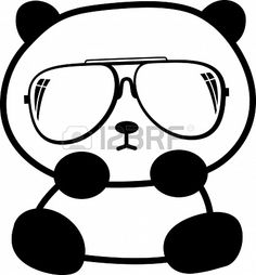 schattige kleine panda met een zonnebril Stockfoto - 19051212