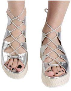 ΝΕΕΣ ΑΦΙΞΕΙΣ :: Σανδάλια Flatforms Greek Unique Style Silver - OEM Espadrilles, Sandals, Shoes, Style, Fashion, Espadrilles Outfit, Swag, Moda, Shoes Sandals