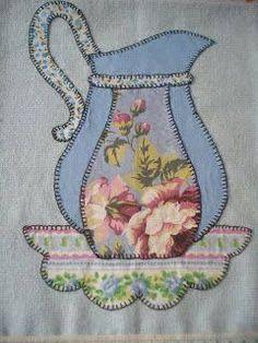Resultado de imagen para panos+de+patch Applique Templates, Applique Patterns, Applique Quilts, Applique Designs, Embroidery Applique, Quilt Patterns, Embroidery Designs, Sewing Crafts, Sewing Projects