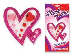 Stuck on You Jewel & Glitter Heart Tattoo Stickers (Sold Individually) . $1.99