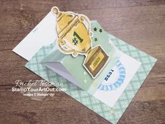 "I'm excited to show you a few more alternate project that I came up with using the contents of the August 2020 ""World's Greatest"" Paper Pumpkin kit. These five ideas (a flap fold card, two matchbook RAK notecards, another slider window card, and another pop-open cube card) were all featured in Stampin' Up's Paper Pumpkin Facebook Live on 9/1/20! Click here to access measurements, directions, more close-up photos, and links to the products I used. - Stampin' Up!® - Stamp Your ..."