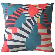 Postmodern Minimalism Colorful Regular Geometric Lines Decorative Pillow Cover – AUD $ 24.07