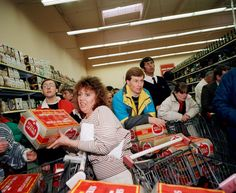 FRANCE. Calais. Auchan hypermarket. From 'One Day Trip'. 1988