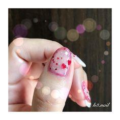 いいね!167件、コメント17件 ― miki.さん(@h3.nail)のInstagramアカウント: 「・ 親指はこんな感じに(*´˘`*)♡ ・ 親指の塗り方゚・*:.。. .。.:*・゜ スパンコールネイルポリッシュのハケを使って…ハートのスパンコールは拾わないようにして2度塗りします。 ↓…」