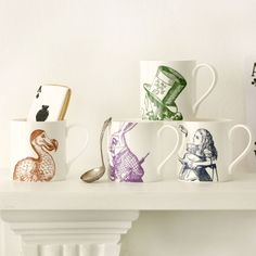 I always feel inspired when I drink from these mugs, especially alice's...