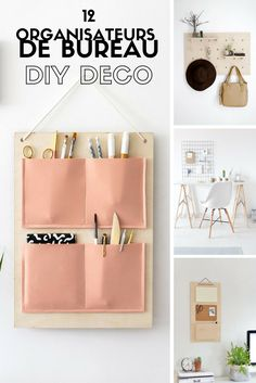 Un organiseur mural de bureau beau et utile vous en rêviez ? Voilà pourquoi nous avons compilé ici les DIY les plus inspirants de la Toile pour fabriquer un organiseur mural de bureau. Diy Hanging Shelves, Floating Shelves Diy, Diy Wall Shelves, Desk Wall Organization, Office Wall Organiser, Office Desk, Office Chairs, Mason Jar Crafts, Mason Jar Diy